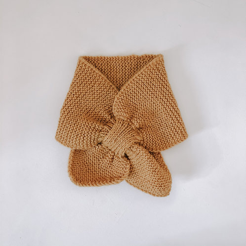 Hand knitted scarf - mustard