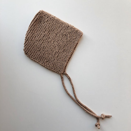 Knitted Bonnet - Oat