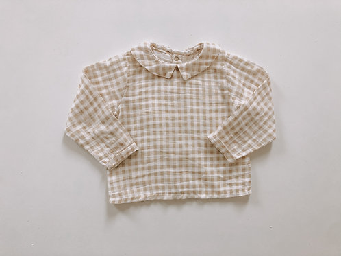 Albie Shirt in Cinnamon Plaid