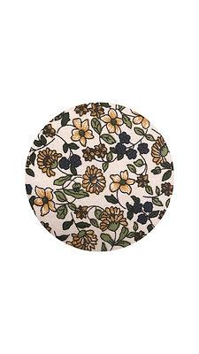 Large Quilt, Spring Floral & Natural Linen Cotton