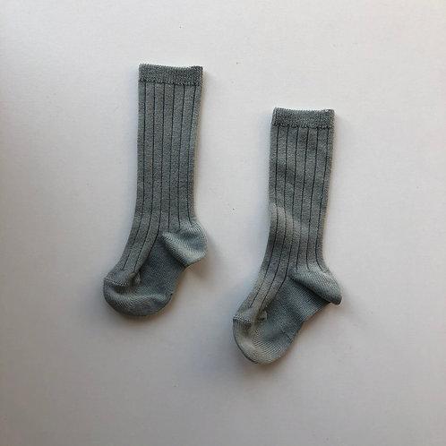 Condor ribbed knee high socks - Dry Green