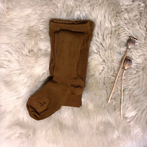 Toffee Ribbed Tights