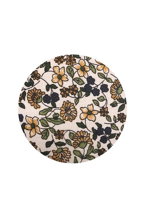Large Quilt, Spring Floral & Lemon Seersucker