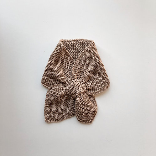 Hand knitted scarf - Oat