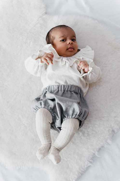 Dottie bloomers in flint grey linen.