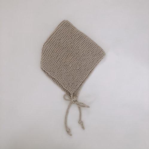 Hand knitted bonnet - Mushroom