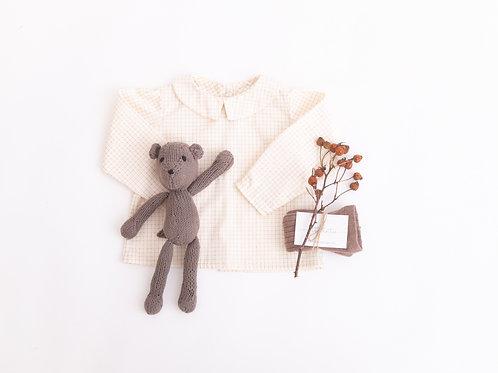 Albie Shirt, Wheat Fields Check