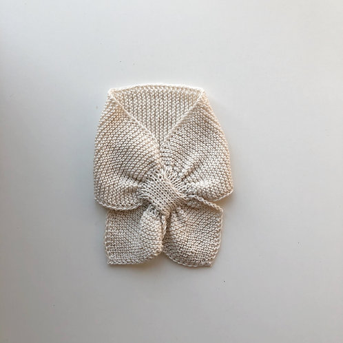 Hand knitted Scarf - Linen