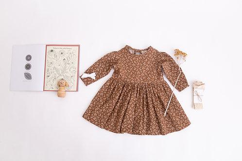 Joanie Dress, Chestnut Floral