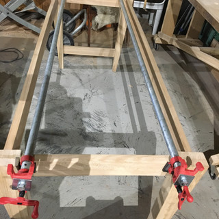 Oak rails and under Frame