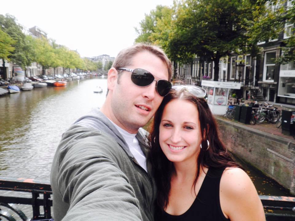 Trevor and I on vacation in Amsterdam