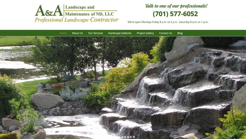 A&A Landscape and Maintenance Website