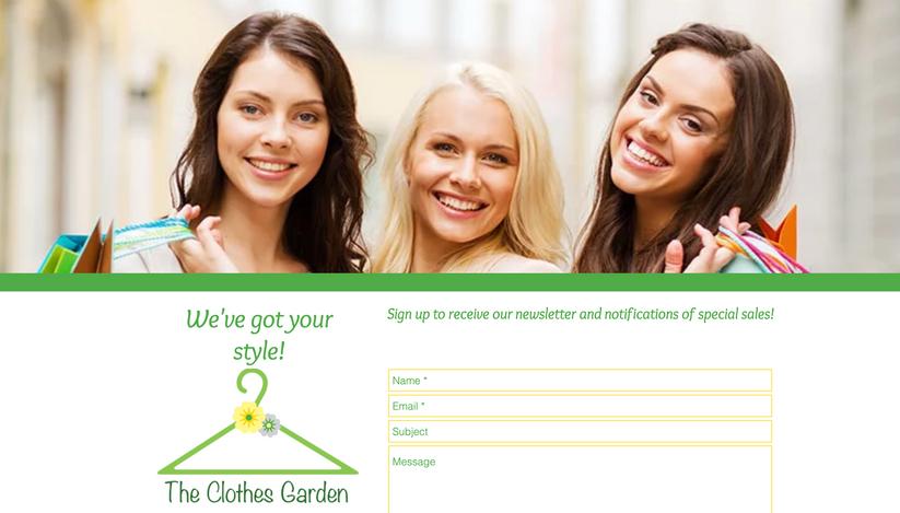 The Clothes Garden Website