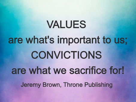 Core values and convictions that guide me