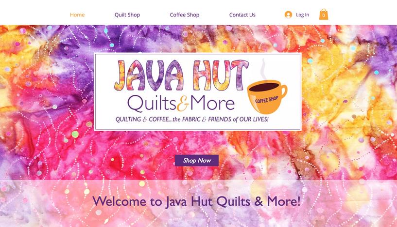 Java Hut Quilts & More Website