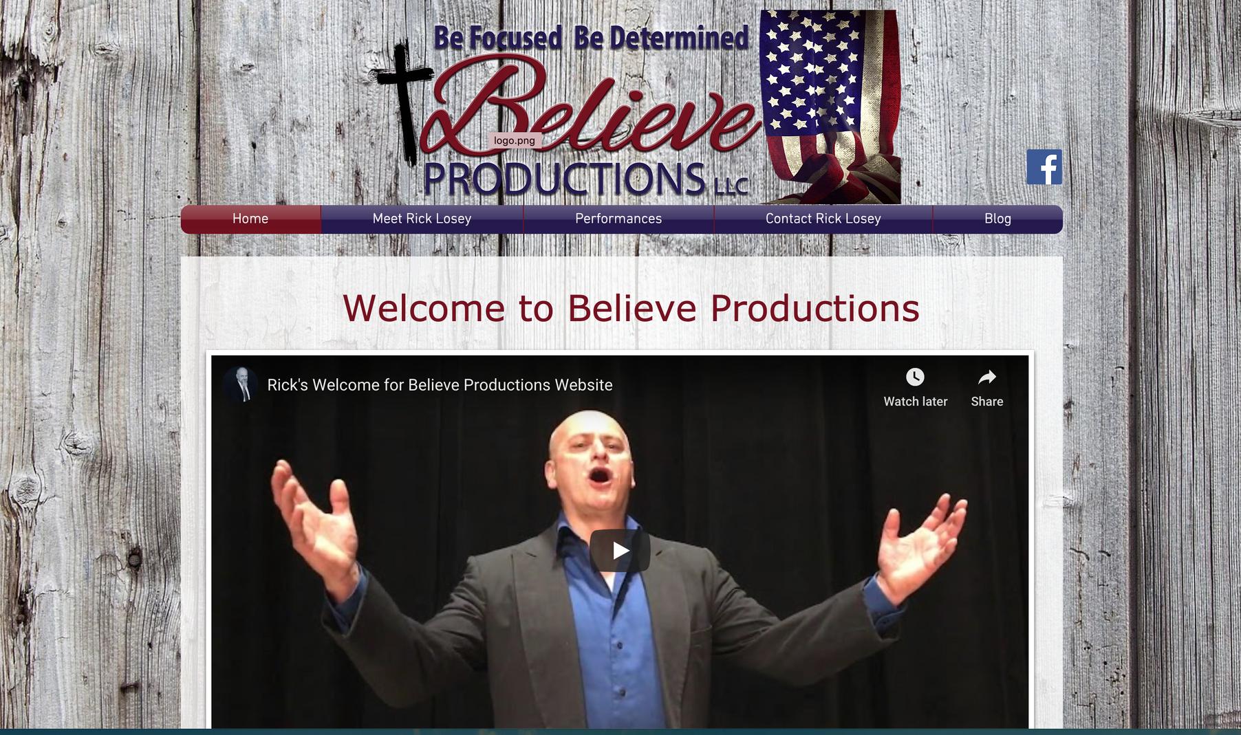 Believe Productions LLC Website