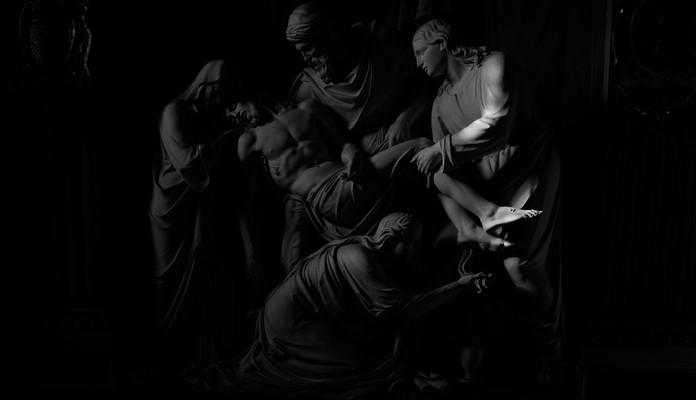 Architecture & Arts.  Citta del Vaticano, Italia. Photo © Jonathan Manrique Nossa  Deposition of the cross, sculpture in church. Chiesa della Trinita dei Monti, Rome. Sculpture by Wilhem Theodor Achtermann. Roma, Italia.