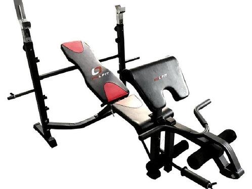 Banco de Pesas Multiposicion con Predicador y Polea para Trabajo de Biceps