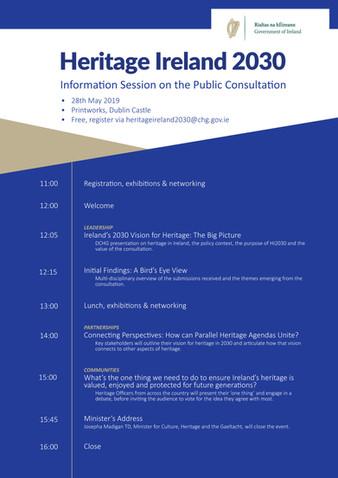 Heritage Ireland Information Session on the Public Consultation