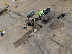 Large scale excavation of an enclosure at Portmarnock, Co. Dublin
