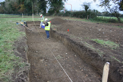 Recording of a test excavation
