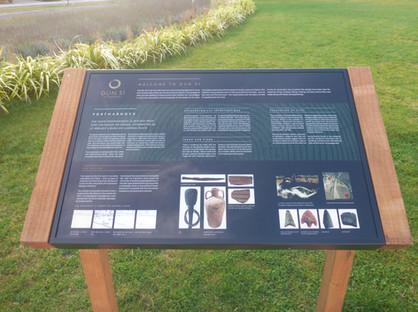 Interpretive signage at Portmarnock, Co. Dublin