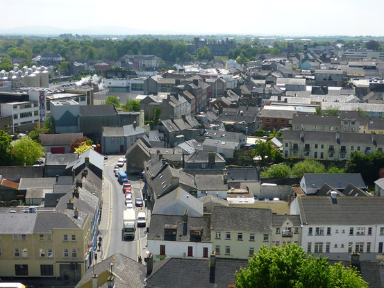 Bird eye view of Kilkenny City