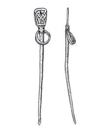 Illustration of pin from Portmarnock, Co. Dublin