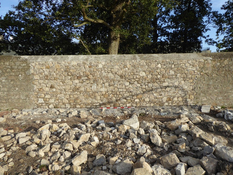 Brennanstown Co. Dublin Reconstructed section of the demesne wall