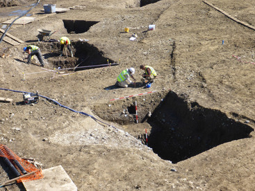 Excavation of a medieval site, Co. Dublin