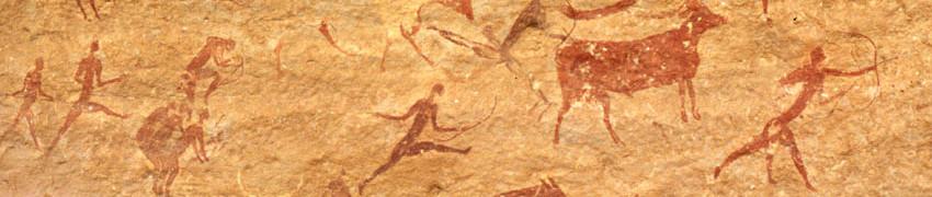 Neolityczne malowidło w Tassili.