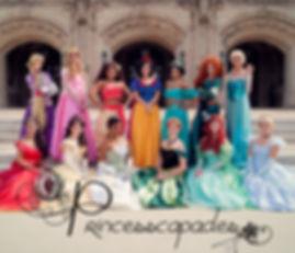 Group of Princesses on Steps