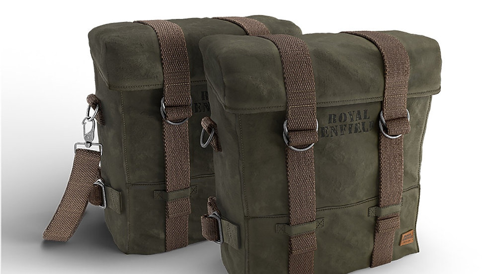 ROYAL ENFIELD MILITARY PANNIER PAIR (OLIVE)