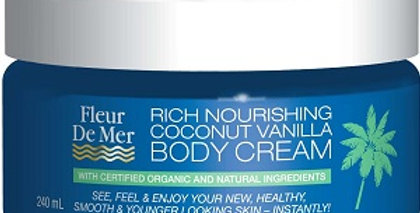 Rich Nourishing Coconut Vanilla Body Cream 240ml