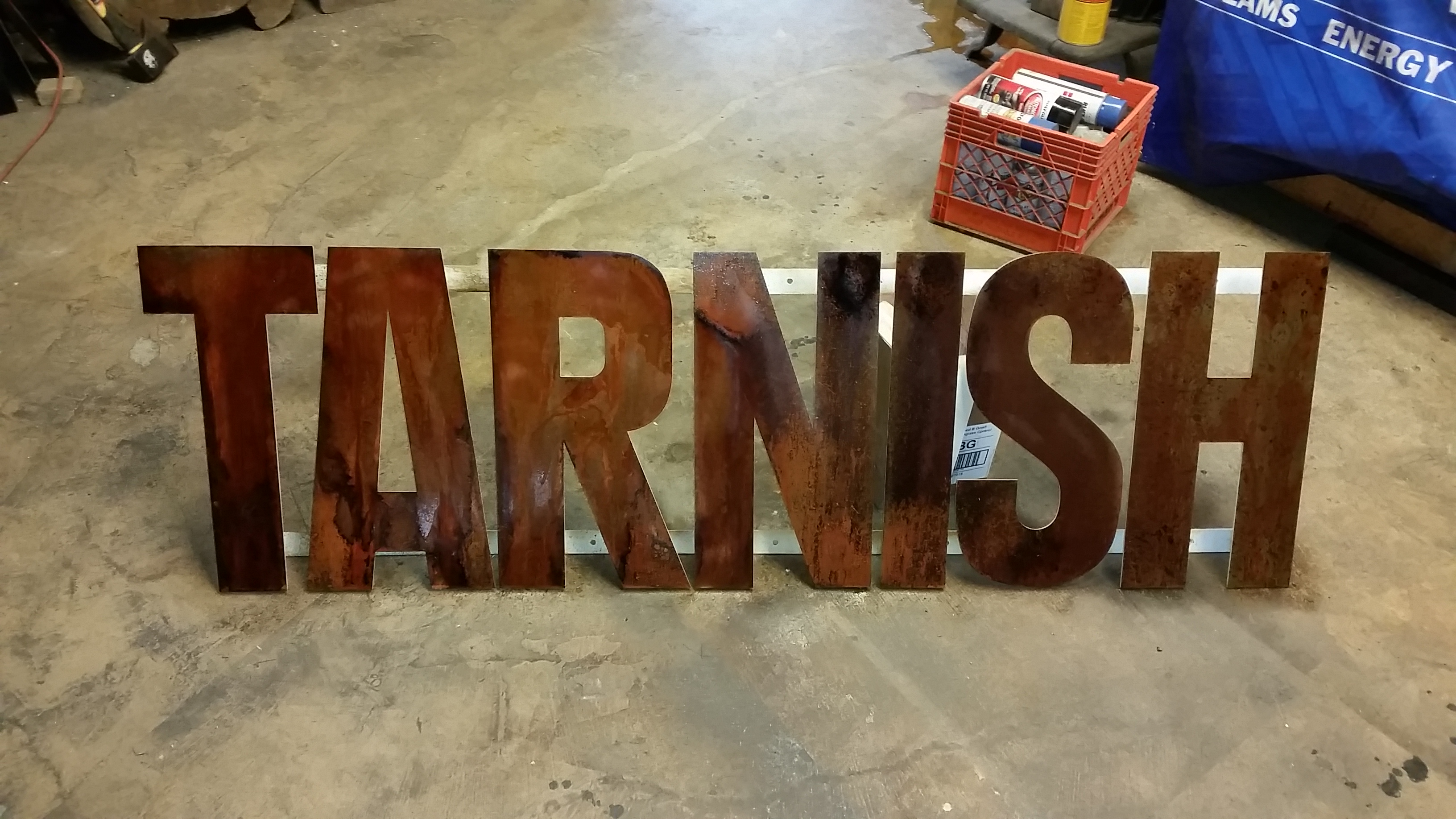 Tarnish sign