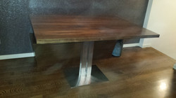 Stainless table base