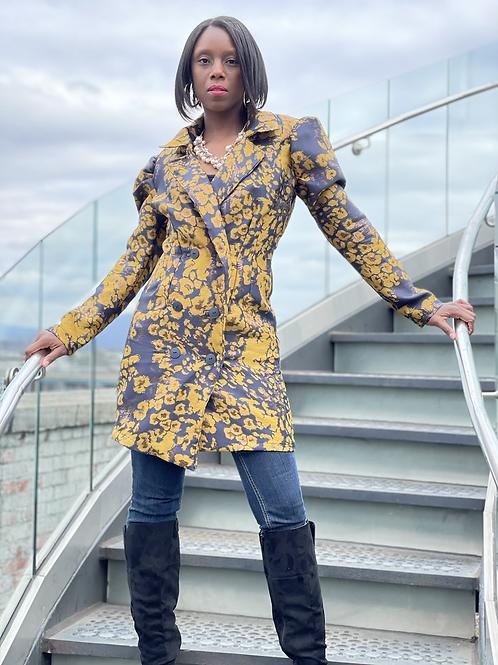 Leopard print Blazer Dress