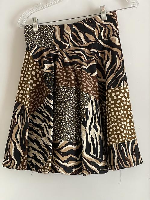 Animal Print Skater Skirt