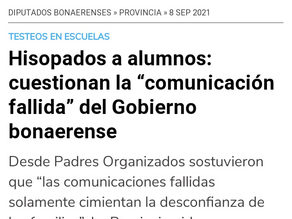 """Hisopados a alumnos: cuestionan la """"comunicación fallida"""" del Gobierno bonaerense"""