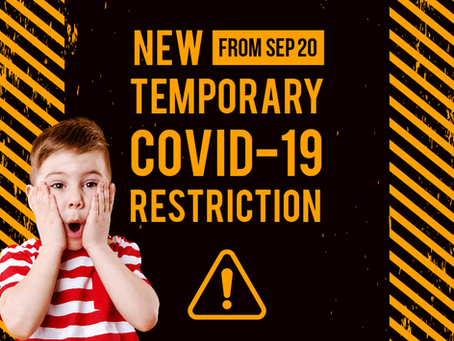 NEW TEMPORARY RESTRICTION