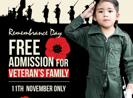 FREE ADMISSION FOR VETERAN'S FAMILY
