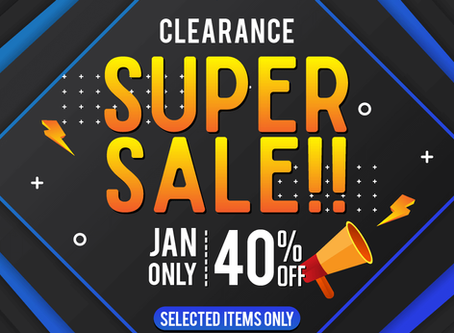 CLEARANCE SALE-40% OFF