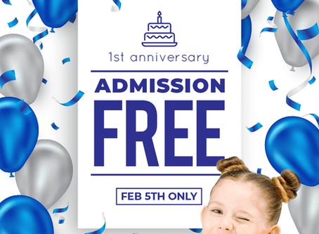 FREE ADMISSION ON 5TH FEB