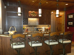 Built Ins and Bar
