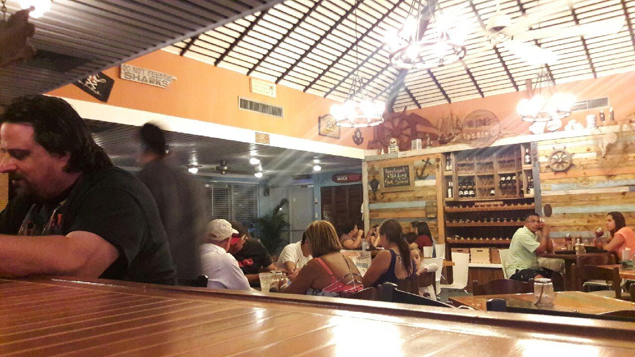 Customers enjoying food