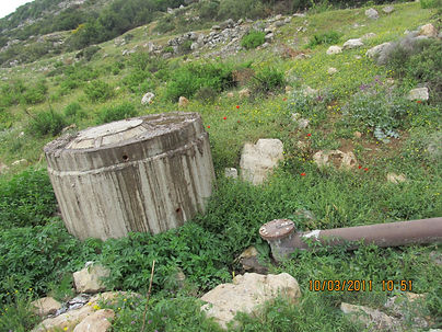 Sewage from Nofim settlement