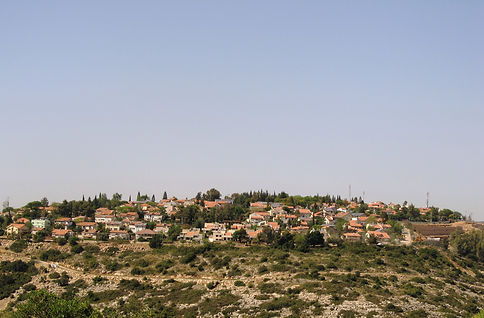 Houses in the illegal settlement of Nofim