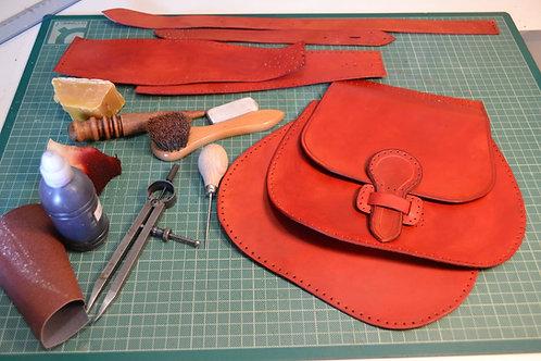 Κατασκευή Δερμάτινης Τσάντας με Εργαλεία Χειρός