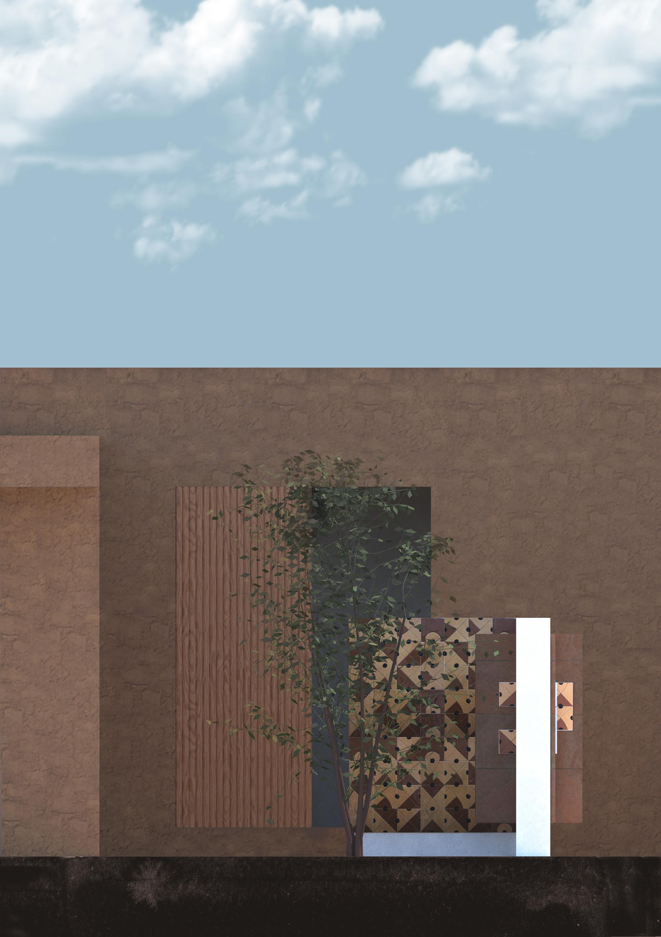 Vista para o pátio dos azulejos