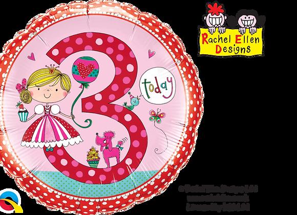 Rachel Ellen - Princess - 3 - Qualatex Small Foil Balloon